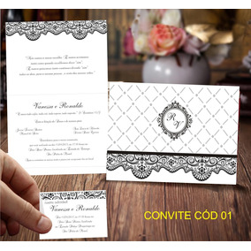 R$ 1,20 Unidade Convites De Casamento E 15 Anos.