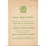Brochure Cali Sala Beethoven Mariano Ospina Perez 1948