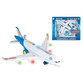 Avião Mini Airbus Com Motor A Pilha - Vip Toys