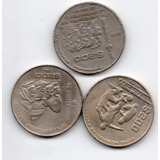 Coleccion 3 Monedas Mexicanas De 200 Pesos Niquel C13
