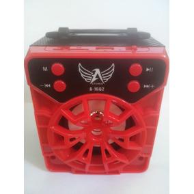 Radio Caixa Som Portátil Amplificado Bluetooth Usb Mp3 Radio