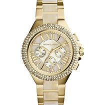 Relógio Michael Kors Mk5902 Ouro Strass Original Top