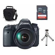 Câmera Canon 6d 24-105mm +capa+tripe+ Sd 64gb 12x!