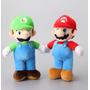 Mario Y Luigi Set De Peluches 25 Cm Nuevo Y Sellado