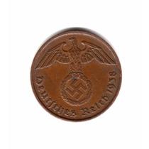 Alemania Nazi Moneda 2 Reichspfennig Año 1938 J Esvastica