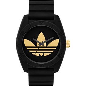 adidas Santiago Preto Relógio Dourado Adh2912 - Frete Gratis