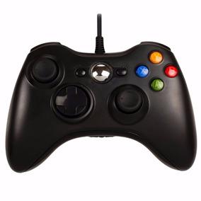 Controle Joystick Feir Usb Com Fio Xbox 360 Pc Preto
