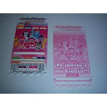 Invitaciones Cajas Bolsas Articulos Fiesta My Little Pony