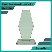 Trofeos Y Reconocimiento En Vidrio Esmeralda 10mm