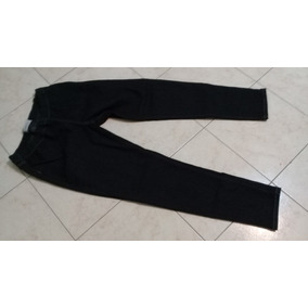 Pantalon Jeans Gris Oscuro Con Elastico Cintura T 44