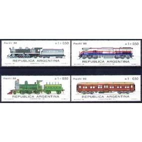 0581 Argentina - Trens, Locomotivas Ferrovia Série Nova Comp