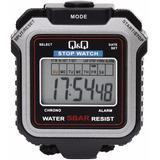 Cronometro Q&q Resistente Al Agua - 10 Años De Batería