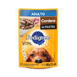 Pedigree Pouch Cordero En Filete Sobre Perro Adulto 100gr