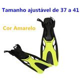 Nadadeira Mergulho (pé De Pato) Ajustável De 37 A 41 Amarelo