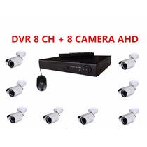 Kit Dvr Stand Alone 8 Canais Ahd + 8 Câmeras Bullet Ahd
