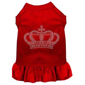 Vestido Corona Diamante De Imitación Rojo Med (12)