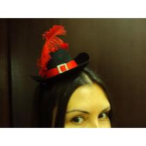 Acessório Fantasia Gato De Botas Mini Chapéu Com Pluma