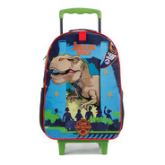 Mala Escolar Com Rodinhas Jurassic World Dinossauro