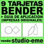 9 Tarjetas Test Bender Originales Paidos + Guia De Aplcación