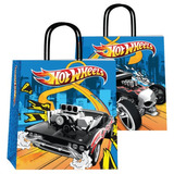 Bolsa De Papel De Regalo Hot Wheels 22x24 Cm