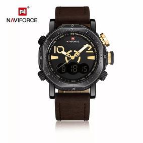 Relógio Naviforce 9094 Analógico Digital Pulseira Couro