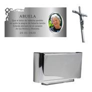 Placa + Foto + Jardinera + Cruz. Para Cementerio, Lapidas.