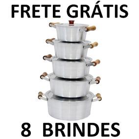 Excelente Jogo 5 Panelas Alumínio + Frete Grátis + Brindes**