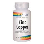 Zinc Copper Solaray 100 Vegcaps - Unidad a $9