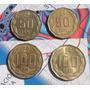 4 Monedas Chile Serie Completa 50 Y 100 Escudos ( N C )
