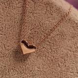 Collar Y Aretes De Corazón Bañado En Oro 18kl