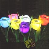 Lampara Solar Para Jardín Estaca Tulipán Juego 4 Piezas