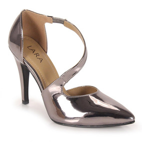 Sapato Scarpin Feminino Lara - Prata Velho