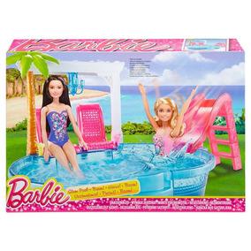 Barbie Pileta Piscina Glam Con Accesorios Dgw22 Mattel
