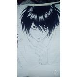 Dibujo L Death Note A Mano