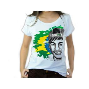 Camisetas Femininas Copa Mundo Brasil Bandeira Iaia Brasil
