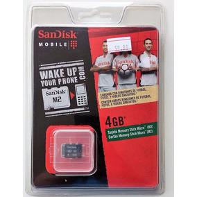 Cartão Micro M2 4gb Memory Stick Sandisk Lacrado