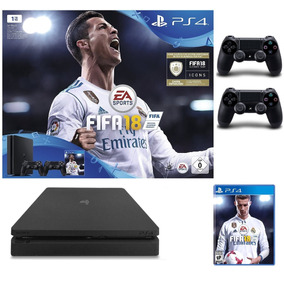 Sony Playstation 4 1tb Ultra Slim + Fifa18 + 2 Joystick Ps4