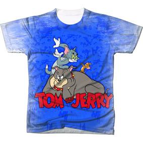 Camiseta - Camisa Desenho Animado Tom E Jerry Estampada 7