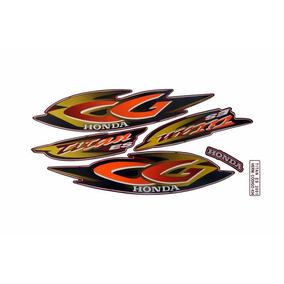 Jogo Adesivo Cg 125 Titan Es Vermelho 2001