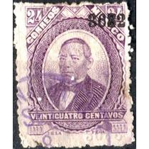 1856 Clásico Juárez Scott#138 24c Usado L H Guanajuato#3682