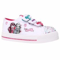 Disney Zapatillas Lona Monster High Con Luz Y Abrojo
