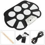 Bateria Eletrônica Portátil Completa Dobrável Roll Up Drum