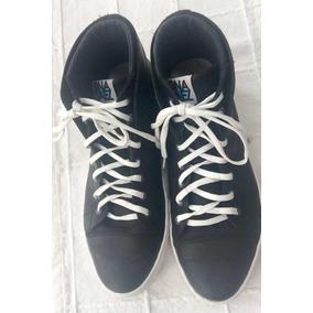 Zapatillas Botita Negra Cuero Onansaez Usadas 42