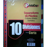 Separadores Plasticos De 10 Divisiones Printa