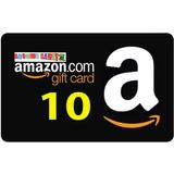 Amazon Gift Card Tarjeta Con Saldo Prepago Valor Usd 10