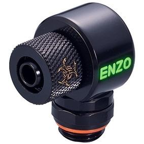 Enzotech G1 / 4 A 1/4 Id, 3/8 Od Ajuste De Compresión, 90 °