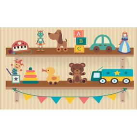 Painel Lona Brinquedos Infantis (1) 5x3 Display Envio 48h