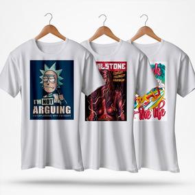 Kit 3 Camisas - Estampas Personalizadas