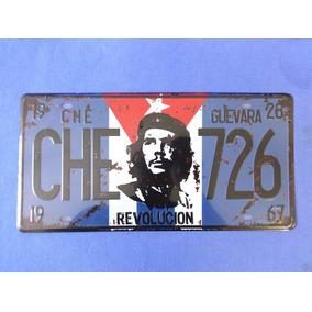 Placa Che Guevara Revolucion - Alto Relevo Cuba Fidel Castro