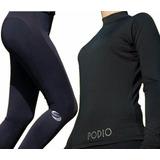 Conjunto Térmico Mujer Remera Calza One Flex + Portacelular